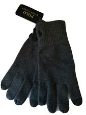 NWT Polo Ralph Lauren Men's Touch Gloves Cotton Blend Charcoal Gray  Retail $40