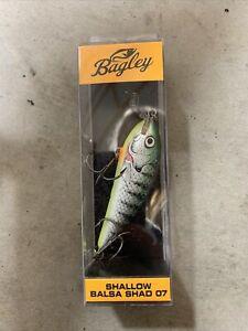 Bagley~Shallow Balsa Shad 07~CrankBait Lures~ New