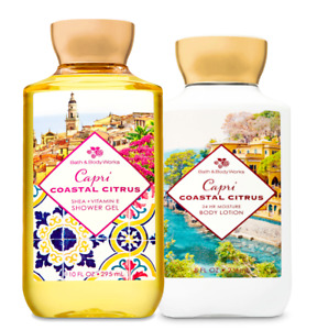Bath & Body Works Capri Coastal  Citrus Body Lotion + Shower Gel Duo Set