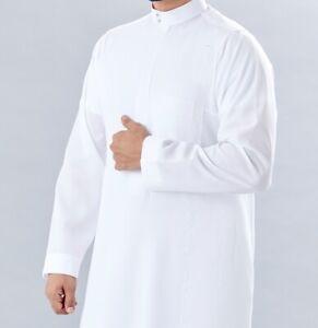 Rouat al Fakhama White Thobe, Jubba, Arab Robe Islamic Dress For Men & Children