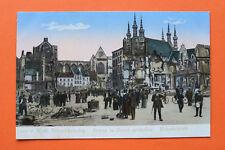 Gloria Viktoria AK Löwen Louven i Brand geschossen Bahnhofplatz 1914-18 1.WK WWI