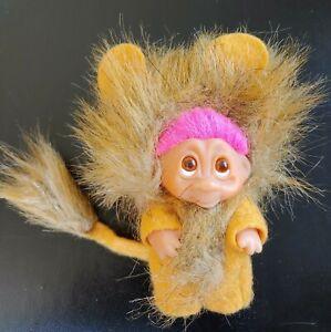 DAM Norfin Troll LEO LION 1985 Pink hair Brown Mane Hair #50523