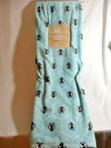 Milo & Friends Honey Bees on Honeycomb Super Soft Throw 50 x 70 inch Blue NEW