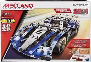 Meccano 25-in-1 Supercar Set Motorized S.T.E.A.M Building Kit