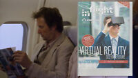 THE LIBRARIANS SCREEN USED EP 306 Airplane Sky Magazine seen with Flynn