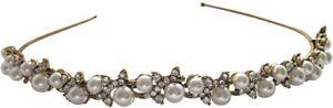 Austrian Crystal & Pearl Headband Hairband / Wedding Hair Accessories Bridal New