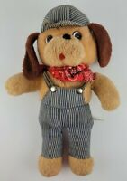 "Vintage Knickerbocker Dog Plush Animals of Distinction Train Conductor 16"" Rare"
