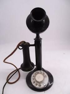 Antique Candlestick Telephone Rotary Dial AT&T American Telegraph Transitional