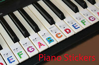 Keyboard or Piano Stickers full set for a 61keyboard For KIDS fun shape letter