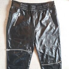 Zara trousers black faux leather size L new without tags