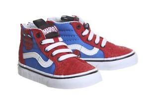 Vans Marvel Sk8 Hi Zip Toddler Sneakers Spiderman Red Blue Sz 4.0  5.0  5.5  6.0