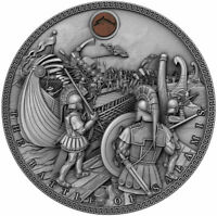 BATTLE OF SALAMIS Sea Battles 2 oz Silver Coin  Niue