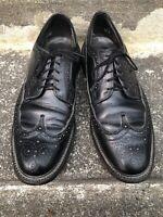Dexter Black Leather Wingtip Oxfords Men's 11D USA Vintage 759297 15-540