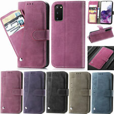 Matte 5Card Wallet Leather Flip Cover Case For Samsung S20 S10 S9 S8 Plus Note 9