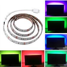 5V 5050 60SMD/M RGB LED Leiste Lichtleiste TV Rückbeleuchtung +USB Fernbedienung