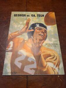 1939 Georgia Vs Georgia Tech Football Program Bulldogs UGA