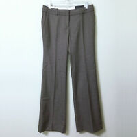 LOFT Pinstripe Pants Brown Size 4 Women's Marisa Fit Trouser Leg Stretch