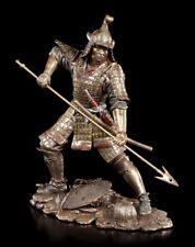 Samurai Figur mit Speer - Krieger Bronze-optik Veronese Statue