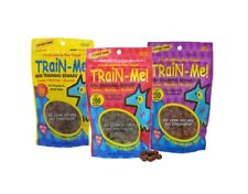 Dog Training Treat Sampler 3 Pack Train Me Mini Healthy Bacon Chicken Beef 4 oz
