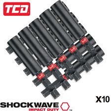 "Milwaukee 60mm 1/4"" Tige Hex Shockwave Impact Magnétique Tournevis Porte-embout"