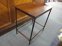 FINE GEORGIAN MAHOGANY OCCASIONAL TABLE WITH FINELY TURNED LEGS C1810