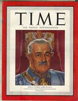VICEROY LORD WAVELL Time Magazine 7/16/45 INDIA