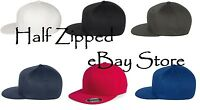 Flexfit Flatbill Baseball Hat 6297F Fitted Pro-Baseball On Field Cap S/M L/XL