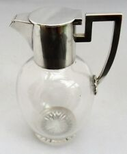 John Grinsell & Sons c1890 SMALL BORDEAUX Brocca, GLASS & SILVER PLATE comò stile