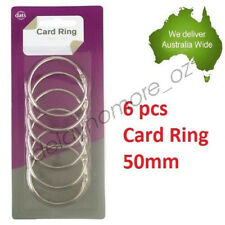 6 x Card Rings loose leaf Binder Ring Binders Scrap booking 50 mm Scrapbooking