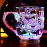 LED Flashing Glowing Light-Up Water Liquid Activated Wine Glass Cup Mugs Party