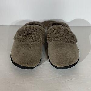 DF By Dearfoam Women's Taupe Slide On Slippers - Size L (9/10)
