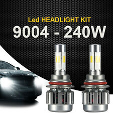 2x 240W 9004 LED Light Headlight Kit 24000LM High/Low Beam White 6000K Bulbs Kit