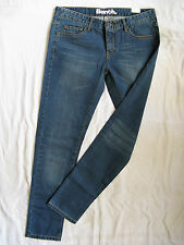 BENCH Damen Blue Jeans Denim Röhre W32/L32 extra low waist slim fit tube leg