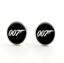 Men's Party Shirt Glass James Bond 007 Silver Brass Copper Cufflinks Cuff Links