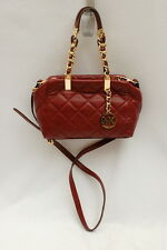 NWT Michael Kors Susannah Quilted Leather Small Satchel Crossbody Claret