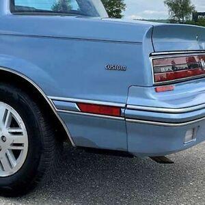 Buick Skylark, Somerset: 1986 - 1991, Left Rear Marker Light With Blue Bezel