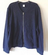 Old Navy Active Womens XXL Navy Full Zip Thick Athletic Popcorn Sweat Jacket New