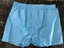 Vintage Boxer Shorts NOS 60s 70s Cotton Polyester Blue Size XL 42 - 44 USA