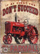 """Farmall Cub FarmTractor 9"""" x 12"""" Aluminum Sign IH"""