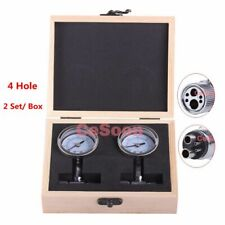 2Pcs Dental Handpiece Pressure Test Gauge 0-100 PSI Measuring Instrument 4 Holes