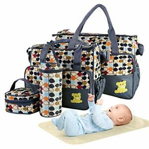 5pcs Diaper Bag Tote Set Baby Bags for Mom Easy to Fetch Items Adjustable New