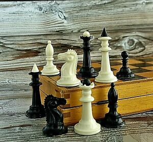 Vintage Chess Set 1970 USSR tournament Folding Board 30x30 Gift For Chess Player