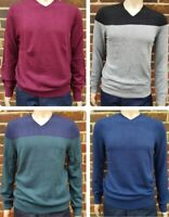 Men`s Denver Hayes V-Neck Merino Wool Blend Jumper Size S-M-L-XL-2XL Sweater