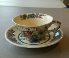 Strathmore Blue Multicolor by Mason's - Cup and Saucer Set *Very Nice!*