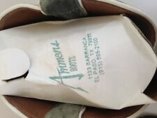 Ammons  Women's Cowboy Boots Sz 5.5 Gray Ostrich and White Leather Embroidered