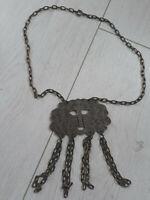 Sängerform Halskette Azteken Vintageschmuck  Modeschmuck 70 er ca. 45 Jahre RAR