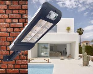 Faro lampione stradale pannello solare fotovoltaico sensore 128 LED SMD HS-8013C