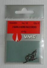 Emerillons VMC N°18 Réf: 3544BK 3 barils raccordés noirs par 5