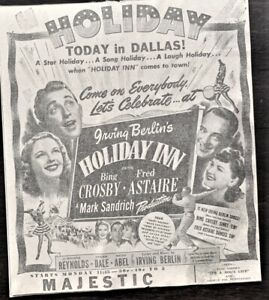 1942 Bing Crosby & Fred Astaire Movie advertisement - Original