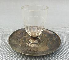 Ancien verre et sous verre métal argenté art pop déco bistrot french antique